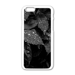 Black And White Leaves Photo Apple Iphone 6/6s White Enamel Case by dflcprintsclothing