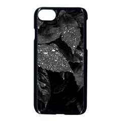 Black And White Leaves Photo Apple Iphone 8 Seamless Case (black) by dflcprintsclothing