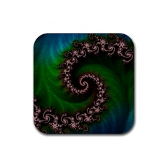 Benthic Saltlife Fractal Tribute For Reef Divers Rubber Square Coaster (4 Pack)  by jayaprime