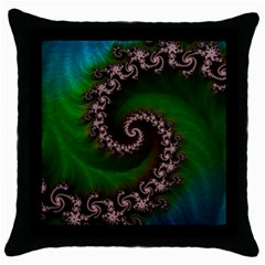 Benthic Saltlife Fractal Tribute For Reef Divers Throw Pillow Case (black) by jayaprime