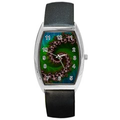 Benthic Saltlife Fractal Tribute For Reef Divers Barrel Style Metal Watch by jayaprime