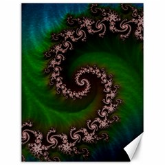 Benthic Saltlife Fractal Tribute For Reef Divers Canvas 12  X 16   by jayaprime