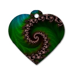 Benthic Saltlife Fractal Tribute For Reef Divers Dog Tag Heart (one Side) by jayaprime