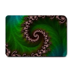 Benthic Saltlife Fractal Tribute For Reef Divers Small Doormat  by jayaprime