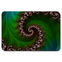 Benthic Saltlife Fractal Tribute For Reef Divers Large Doormat  by jayaprime