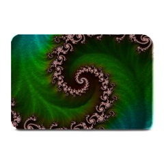 Benthic Saltlife Fractal Tribute For Reef Divers Plate Mats by jayaprime