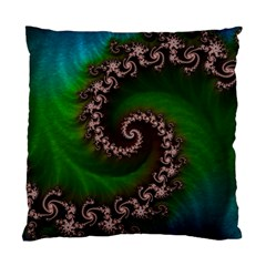 Benthic Saltlife Fractal Tribute For Reef Divers Standard Cushion Case (two Sides) by jayaprime
