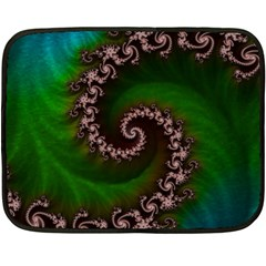 Benthic Saltlife Fractal Tribute For Reef Divers Double Sided Fleece Blanket (mini)  by jayaprime