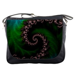 Benthic Saltlife Fractal Tribute For Reef Divers Messenger Bags by jayaprime