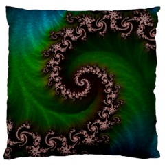 Benthic Saltlife Fractal Tribute For Reef Divers Large Cushion Case (two Sides) by jayaprime