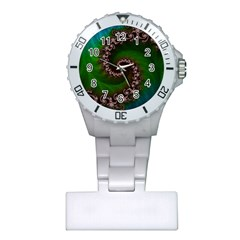 Benthic Saltlife Fractal Tribute For Reef Divers Plastic Nurses Watch by jayaprime
