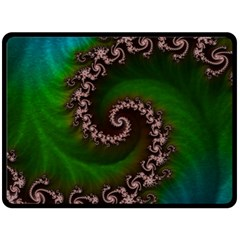 Benthic Saltlife Fractal Tribute For Reef Divers Double Sided Fleece Blanket (large)  by jayaprime