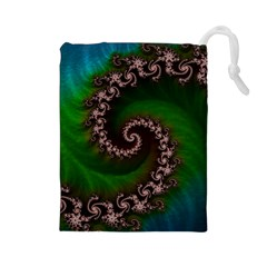 Benthic Saltlife Fractal Tribute For Reef Divers Drawstring Pouches (large)  by jayaprime