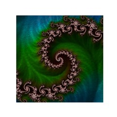 Benthic Saltlife Fractal Tribute For Reef Divers Small Satin Scarf (square)