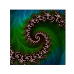 Benthic Saltlife Fractal Tribute for Reef Divers Small Satin Scarf (Square) Front
