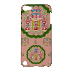 Sankta Lucia With Friends Light And Floral Santa Skulls Apple Ipod Touch 5 Hardshell Case by pepitasart