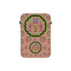 Sankta Lucia With Friends Light And Floral Santa Skulls Apple Ipad Mini Protective Soft Cases by pepitasart