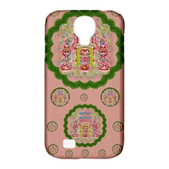Sankta Lucia With Friends Light And Floral Santa Skulls Samsung Galaxy S4 Classic Hardshell Case (pc+silicone) by pepitasart