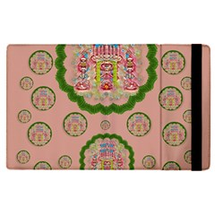 Sankta Lucia With Friends Light And Floral Santa Skulls Apple Ipad Pro 9 7   Flip Case by pepitasart