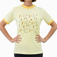 Graphics Tower City Town Women s Fitted Ringer T Shirts by Alisyart