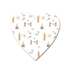 Graphics Tower City Town Heart Magnet by Alisyart