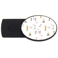 Graphics Tower City Town Usb Flash Drive Oval (2 Gb)