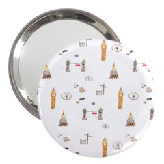 Graphics Tower City Town 3  Handbag Mirrors