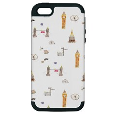 Graphics Tower City Town Apple Iphone 5 Hardshell Case (pc+silicone)