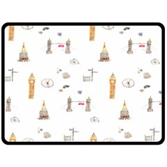 Graphics Tower City Town Double Sided Fleece Blanket (large)