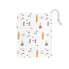 Graphics Tower City Town Drawstring Pouches (medium)  by Alisyart