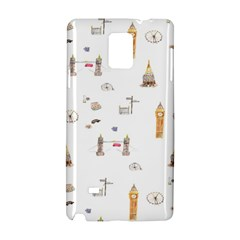 Graphics Tower City Town Samsung Galaxy Note 4 Hardshell Case