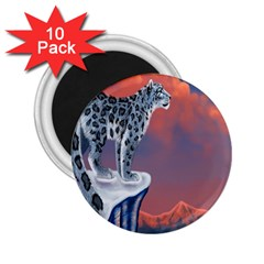 Lion Tigel Chetah Animals Snow Moon Blue Sky 2 25  Magnets (10 Pack)  by Alisyart