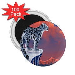 Lion Tigel Chetah Animals Snow Moon Blue Sky 2 25  Magnets (100 Pack)  by Alisyart