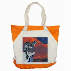 Lion Tigel Chetah Animals Snow Moon Blue Sky Accent Tote Bag