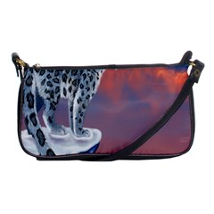 Lion Tigel Chetah Animals Snow Moon Blue Sky Shoulder Clutch Bags