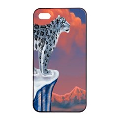 Lion Tigel Chetah Animals Snow Moon Blue Sky Apple Iphone 4/4s Seamless Case (black) by Alisyart