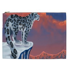 Lion Tigel Chetah Animals Snow Moon Blue Sky Cosmetic Bag (xxl)