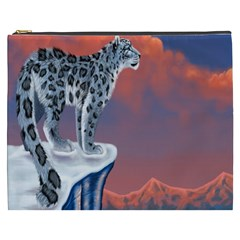 Lion Tigel Chetah Animals Snow Moon Blue Sky Cosmetic Bag (xxxl)  by Alisyart