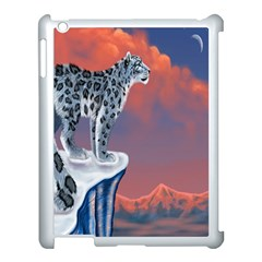Lion Tigel Chetah Animals Snow Moon Blue Sky Apple Ipad 3/4 Case (white)