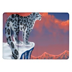 Lion Tigel Chetah Animals Snow Moon Blue Sky Samsung Galaxy Tab 10 1  P7500 Flip Case