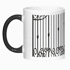 Inspirative Iron Gate Fence Morph Mugs by Alisyart
