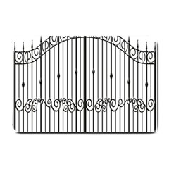 Inspirative Iron Gate Fence Small Doormat  by Alisyart