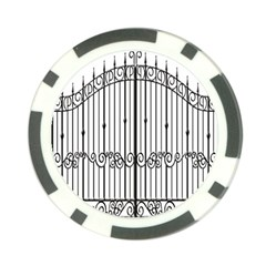 Inspirative Iron Gate Fence Poker Chip Card Guard (10 Pack) by Alisyart