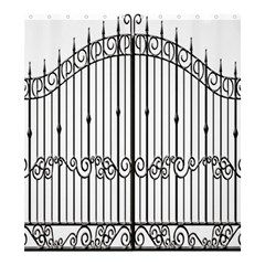 Inspirative Iron Gate Fence Shower Curtain 66  X 72  (large)  by Alisyart