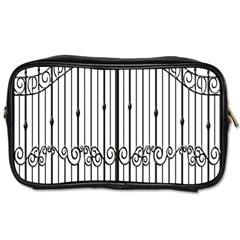 Inspirative Iron Gate Fence Toiletries Bags by Alisyart