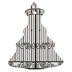 Inspirative Iron Gate Fence Christmas Tree Ornament (two Sides)