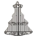 Inspirative Iron Gate Fence Christmas Tree Ornament (Two Sides) Back