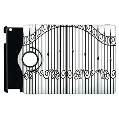 Inspirative Iron Gate Fence Apple Ipad 3/4 Flip 360 Case by Alisyart