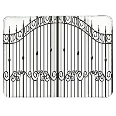 Inspirative Iron Gate Fence Samsung Galaxy Tab 7  P1000 Flip Case