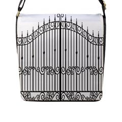 Inspirative Iron Gate Fence Flap Messenger Bag (l)  by Alisyart